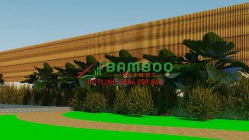 DECOR THI CÔNG TRE TRÚC   TRANG TRÍ TRE TRÚC 3D Bamboo Blinds